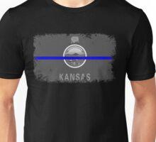 Blue Line Kansas State Flag Unisex T-Shirt