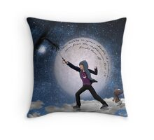 Fighting the nightmares Throw Pillow