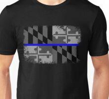 Blue Line Maryland State Flag Unisex T-Shirt