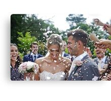 Jess & Chris's Big Day Canvas Print