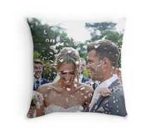 Jess & Chris's Big Day Throw Pillow