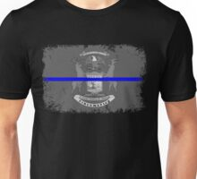 Blue Line Michigan State Flag Unisex T-Shirt