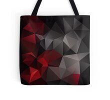 Abstract background of triangles polygon wallpaper in black red colors Tote Bag