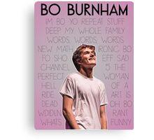 Bo Burnham Song titles Canvas Print