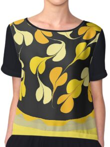 black and gold petals Chiffon Top