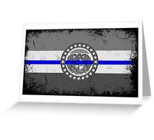 Blue Line Missouri State Flag Greeting Card