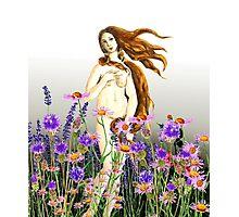 Venus and flowers  Photographic Print