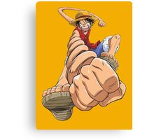 luffy punches Canvas Print