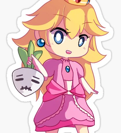 Princess Peach and stitchface sticker Sticker
