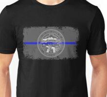 Blue Line Nebraska State Flag Unisex T-Shirt