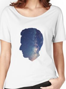 Doctor Who: Twelfth Doctor Peter Capaldi Galaxy Bust Women's Relaxed Fit T-Shirt