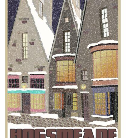 Hogsmeade Village Travel Poster Sticker