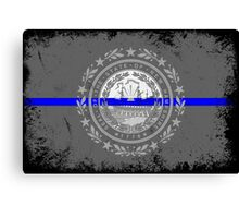 Blue Line New Hampshire State Flag Canvas Print
