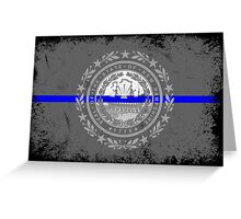 Blue Line New Hampshire State Flag Greeting Card