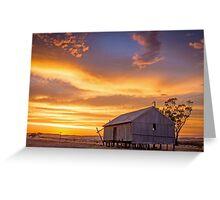Rural Sunset Greeting Card