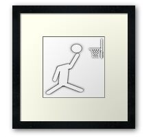 Slam Dunk - head in the game Framed Print