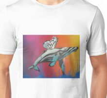 Whale in Flight Unisex T-Shirt