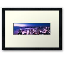 Purple Shades Seattle Panorama Framed Print