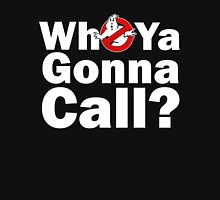 Who ya gonna call? (white) Ghostbusters T-Shirt