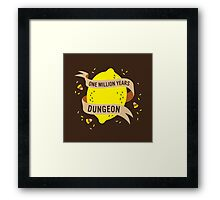 One Million Years Dungeon Framed Print