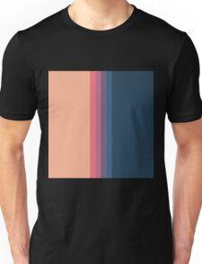 Coral blue Color blocks pattern- vertical Unisex T-Shirt