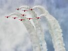 Looping In The Skies - The Red Arrows Farnborough 2014 by Colin J Williams Photography