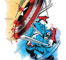 Captain america in action by taufiq