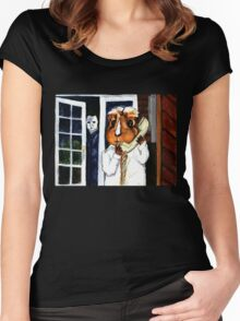 Pigoween - Peregrine is on the Phone Women's Fitted Scoop T-Shirt