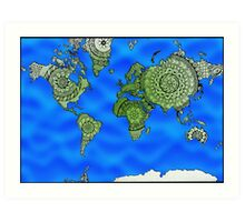World Map Mandalas Art Print