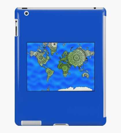 World Map Mandalas iPad Case/Skin