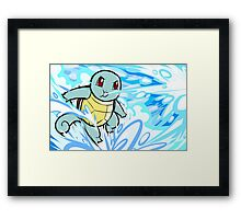Squirtle | Bubble Framed Print