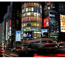 Big City Lights - Life on Ginza Street, Tokyo by Georgina Steytler