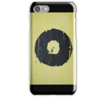 Yellow Record Print iPhone Case/Skin
