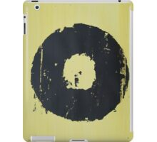 Yellow Record Print iPad Case/Skin