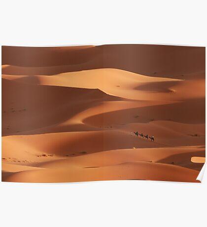 Caravan across the Sahara Desert Poster