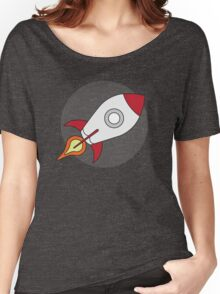 Red Rocketship Blast Off Women's Relaxed Fit T-Shirt