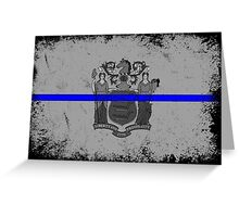 Blue Line New Jersey State Flag Greeting Card