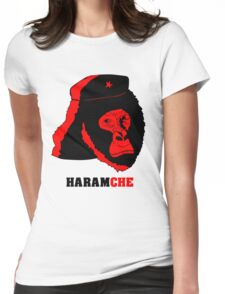 Harambe- Haramche Red Womens Fitted T-Shirt