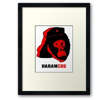 Harambe- Haramche Red Framed Print