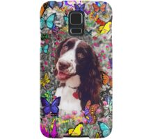 Lady in Butterflies - Brittany Spaniel Samsung Galaxy Case/Skin