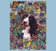 Lady in Butterflies - Brittany Spaniel Kids Clothes