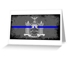 Blue Line New York State Flag Greeting Card