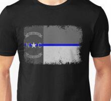Blue Line North Carolina State Flag Unisex T-Shirt