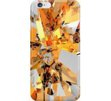 Abstract Orange Shapes Cluster iPhone Case/Skin