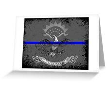 Blue Line North Dakota State Flag Greeting Card