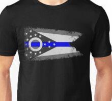 Blue Line Ohio State Flag Unisex T-Shirt