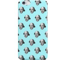 Shakespeare Etching Pattern (Blue) iPhone Case/Skin