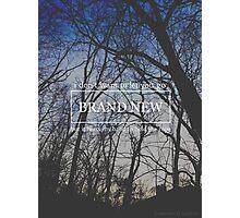 Brand New Lyrics Photographic Print