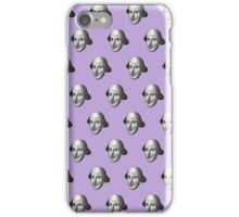Shakespeare Etching Pattern (Purple) iPhone Case/Skin