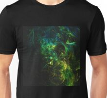 Abstract generated colorful shiny pattern graphic background Unisex T-Shirt